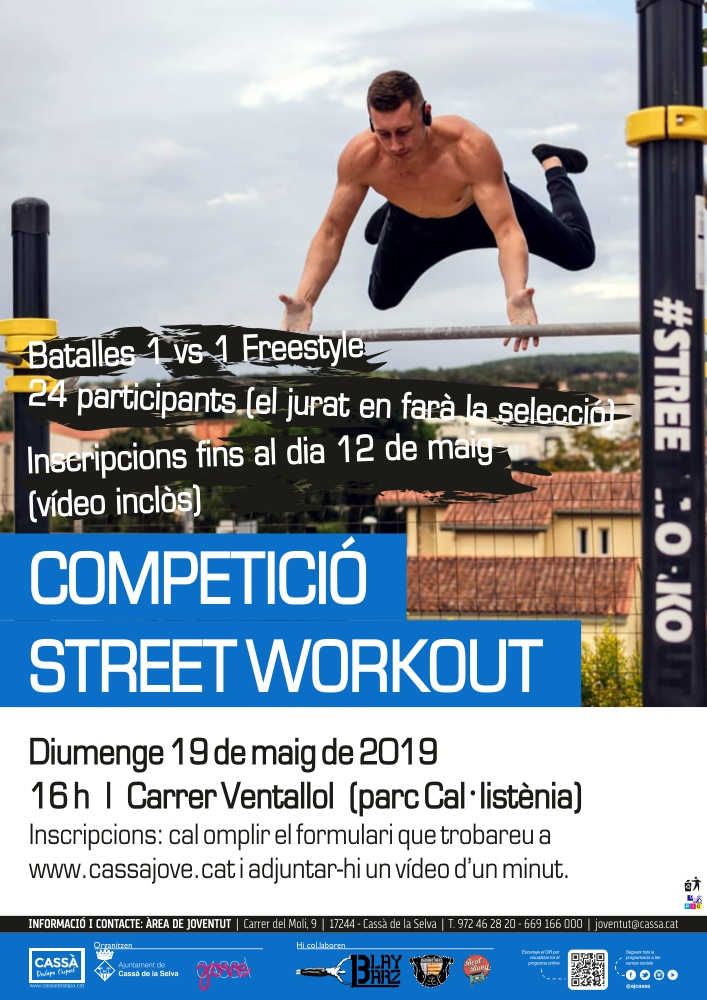 Cartell Competició Street Workout